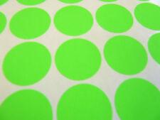 48 verde brillante, di carta MINI ADESIVI, 30mm Round, etichette, Plain, vuoto, blc541