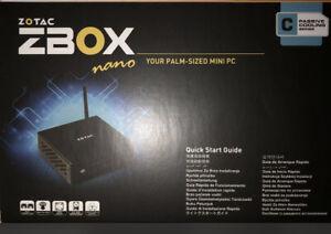 Zotac Fanless Mini PC ZBOX-CI325NANO-U N3160 4GB Ram, 32GB SSD Windows 10