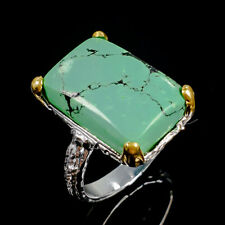 Fine Art Natural Turquoise 925 Sterling Silver Ring Size 7.25/R99806