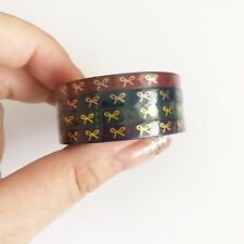 NIP Simply Gilded Bow Washi Tape Nightshade Bow 5mm Set