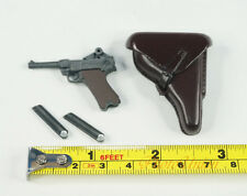 Dragon 1:6 Figure WW2 German Luftwaffe Luger P08 Pistol Holster Gun 70791 P