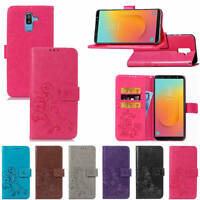 For Samsung Galaxy J8 2018 Retro Wallet Flip PU Leather Card Slots Case Cover