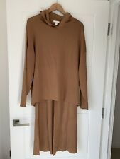 H&M Camel / Brown Soft Touch Wide Trousers And Hooded Top Co-ord Set Brand New