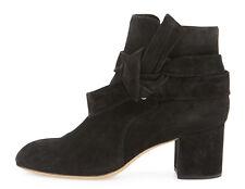 $600 RAG & BONE 'Dalia' Wraparound Tie Bow Bootie Boot Suede Black 38