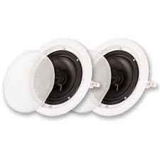 "Acoustic Audio HTI-6C In Ceiling 6.5"" Speaker Pair 2 Way Home Theater Speakers"