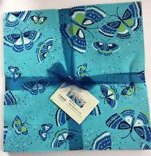 """BENARTEX ISLAND BLOSSOM 42-10"""" squares Fabric Layer Cake 100% Cotton Quilting"""