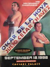 "Oscar De La Hoya Vs Julio Cesar Chavez ""Ultimate Revenge"" Official Program"