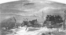 NORWAY. A day in Norway, antique print, 1851