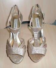 Ladies Steve Madden P-Panaa Gold Sparkle Pumps Stiletto Heels Dress Shoes 8 1/2