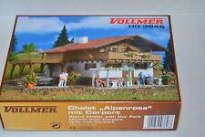 """KIT DI  MONTAGGIO CHALET """" ALPENROSE """" CON GARAGE ART. 3846  DELLA VOLLMER"""