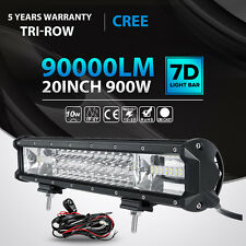 TRI ROW 20inch 900W LED Light Bar Spot Flood Offroad Jeep Ford Truck SUV Boat 22