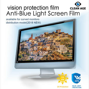 """Anti blue light screen Eye protection film for Computer,Laptop ( 13.3"""" ~ 32inch)"""
