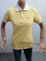 Polo  LACOSTE donna taglia size XXL woman maglietta maglia t-shirt cotone P 6040