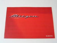 JDM Subaru Legacy Touring Wagon B4 Blitzen Factory Brochure 2001
