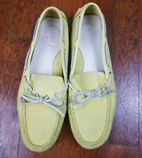 Cole Haan Nike Air Yellow Leather Loafers Size 8