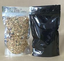 $0.14 per bag 250 x 100g Standup Pouch + zipper, Black, grains nuts muesli herbs