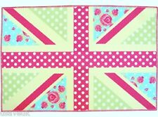 Children's Childs Kids Girls Play Bedroom Pink Union Jack Play Mat 60cm x 90cm