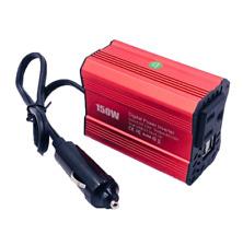 150W Car Power Inverter DC 12V to AC 110V Converter With 2 USB Ports