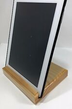 Pine - Wooden Handcrafted Tablet & Smartphone Stand - Minwax Clear Stain Finish