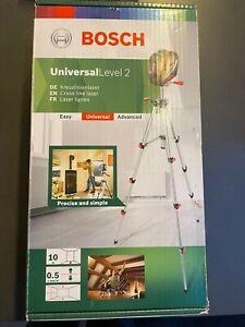 Bosch Kreuzlinienlaser Universal Level 2 Set mit Stativ