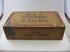 Vintage Cigar Box: M & N Factory Smokers 18th District Ohio