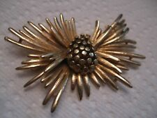 "BSK 2 1/2"" pinecone goldtone pin/brooch - signed"