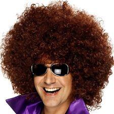 ANNI 70 ANNI '70 ANNI 80 MEGA ENORME LUSSO Afro Costume Disco parrucca marrone