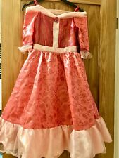 DISNEY Store BEAUTY & THE BEAST Deluxe BELLE Dress Costume 7/8 Pink RARE