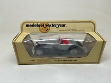 MATCHBOX-MODELS OF YESTERYEAR-Y-20-1937 MERCEDES-BENZ 540K-GRAY 45/1 SCALE