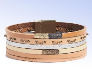 PANACEA Multi-Row Leather Bracelet