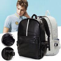 Men Leather Travel Rucksack Camping Satchel Shoulder Backpack School Laptop Bag