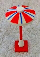 Lego Umbrella 4x4x6.5 Red & Blue Stripe City Home Pool Garden Cafe Modular Rare