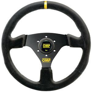 OMP Targa 330mm Steering Wheel - Race / Rally - BLACK - SUEDE - OD/2005/NN