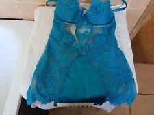 Ann Summers Blue Lagoon Cami Suspender Cami  34 36 B C + Thong Size 12 NWT
