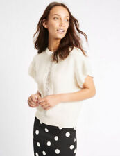 Marks and Spencer Cotton Short Sleeve Jumpers & Cardigans for Women