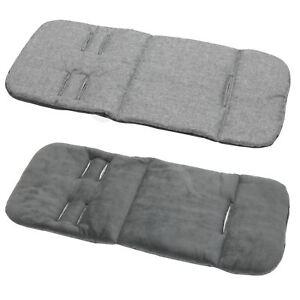 Pram stroller buggy LINER INSERT soft washable universal  Grey Melange - d grey