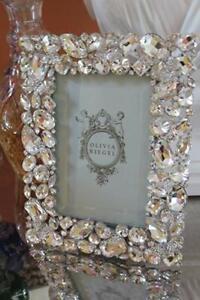 """Olivia Riegel Crystal Roxy 5x7"""" Frame W/Butterflies /New In Keepsake Gift Box"""