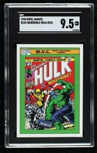 1990 Impel Marvel Comics Super Heroes Incredible Hulk #181 #134 SGC 9.5 0s4