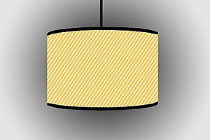 30cm Yellow Stripes Fine Color Lampshade Handmade Ceiling Drum Lampshade