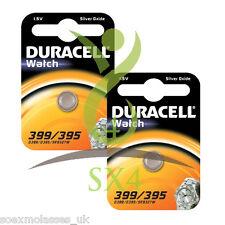 2 x duracell 395 399 d395 SR927SW SR57 V395 1.5 v pile montre oxyde d'argent