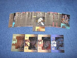 2001-02 UPPER DECK ICE HOCKEY COMPLETE BASE SET 1-42 PLUS ROOKIE CARDS (18-78)