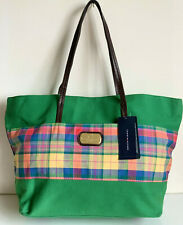 NEW! TOMMY HILFIGER GREEN PLAID NEVERFULL LARGE SHOPPER TOTE BAG PURSE $79 SALE