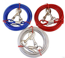 16Ft Dog Tie-Out Cable Steel Wire Pet Runner Cord Chain Leash up to 150 Pound