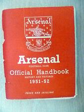 Manuel - 1951-52 Arsenal Official Handbook (ORG *, TB)