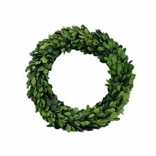 "NEW Preserved Garden Boxwood Round Wreath 10"" By Decovilla FREE SHIPPING"