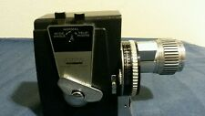 Vintage DeJur Electra 8mm movie camera with leather case
