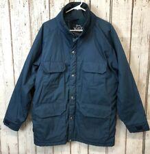 Men's Woolrich USA Wool Blanket Line Blue Windbreaker Parka Jacket Size M #aa405