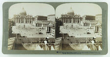 Underwood & Underwood Stereoview of St. Peter's & the Vatican, Rome, Italy 1899