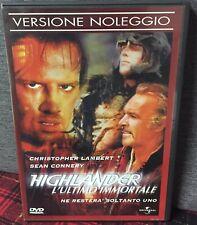 Highlander L'ultimo Immortale DVD Connery Lambert Queen Ex Noleggio Come Foto N