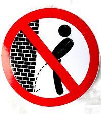 Aufkleber sticker Verbotsschild Pinkeln verboten Don` t pee here ! Urinieren (M